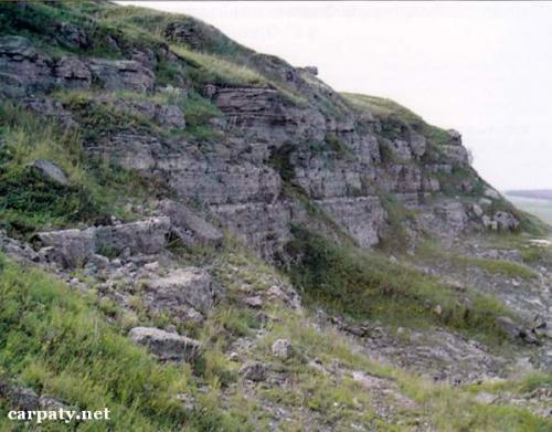 Розріз сульфатних порід біля с.Олешів